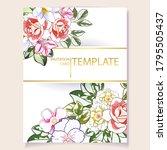 vintage delicate greeting...   Shutterstock .eps vector #1795505437