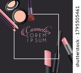 lettering and make up cosmetics ...   Shutterstock .eps vector #1795505461