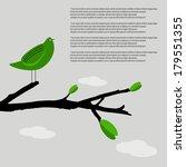 vector   bird on branches | Shutterstock .eps vector #179551355