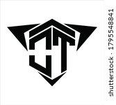 ot logo monogram with wings...   Shutterstock .eps vector #1795548841