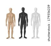 vector set of three male... | Shutterstock .eps vector #179556239