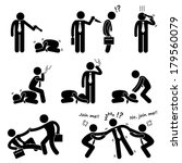 business bullying backstab... | Shutterstock . vector #179560079