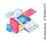 3d internet shopping isometric... | Shutterstock .eps vector #1795602277