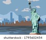 A Liberty Statue Vector...