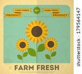 Farm Organic Food Poster. Retro ...