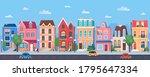 old european town cartoon...   Shutterstock . vector #1795647334