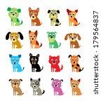 Stock vector cute puppy vector 179564837