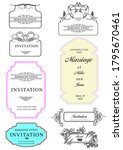 calligraphic elements and frame ... | Shutterstock . vector #1795670461