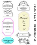 calligraphic elements and frame ... | Shutterstock .eps vector #1795670464