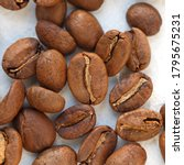 papua new guinea roasted coffee ... | Shutterstock . vector #1795675231