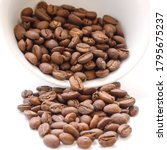 papua new guinea roasted coffee ... | Shutterstock . vector #1795675237