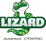 cute green lizard cartoon...   Shutterstock .eps vector #1795699561