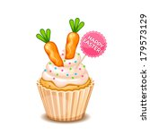 happy easter card with cute... | Shutterstock .eps vector #179573129