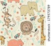 babies hand draw seamless... | Shutterstock .eps vector #179573789