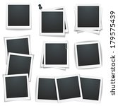 set of photo frames on white... | Shutterstock .eps vector #179575439