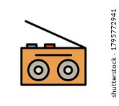 record player  technology icon. ...