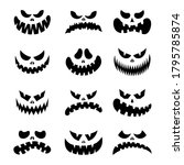 Scary Silhouettes Of Pumpkin...