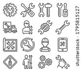repair and settings icons set... | Shutterstock .eps vector #1795815127