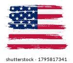 brush stroke usa flag. grunge... | Shutterstock .eps vector #1795817341