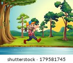 illustration of a happy woodman ... | Shutterstock . vector #179581745