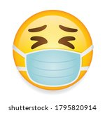 high quality emoticon on white... | Shutterstock .eps vector #1795820914