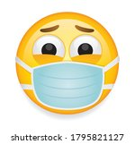 high quality emoticon on white... | Shutterstock .eps vector #1795821127