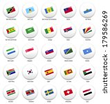 white pin badges with flag of... | Shutterstock .eps vector #179586269