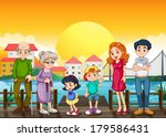 illustration of a family at the ... | Shutterstock . vector #179586431