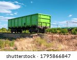 Old Lonely Green Freight Wagon...