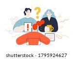 business topics  meeting. flat...   Shutterstock .eps vector #1795924627