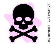 skull and crossbones icon on...