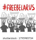 belarus freedom hashtag ... | Shutterstock .eps vector #1795985734