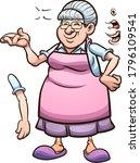 cartoon grandmother with... | Shutterstock .eps vector #1796109541