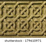 pattern carved into cemetery... | Shutterstock . vector #179610971