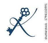combination of letter k logo... | Shutterstock .eps vector #1796110591