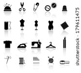 collection of sewing icons | Shutterstock .eps vector #179611475