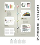 layout page of business graph... | Shutterstock .eps vector #179613455