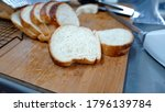 pieces of slices breads on wood ...   Shutterstock . vector #1796139784