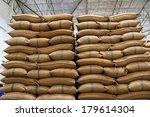 hemp sacks containing rice  | Shutterstock . vector #179614304