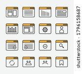 web page icon. vector graphics...
