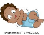 illustration of a black baby... | Shutterstock .eps vector #179622227