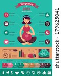 pregnancy and birth... | Shutterstock .eps vector #179625041