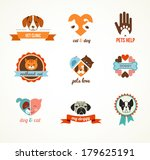 Stock vector pets vector icons cats and dogs 179625191