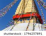 Nepal. Swayambhunath Kathmandu landmark. Everest Base Camp Trek.