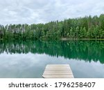 View Of The Lake In The Forest...