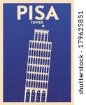 Typographic Pisa City Poster...