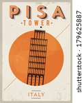 Typographic Pisa City Poster...