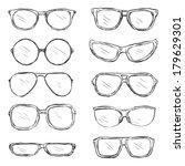 tramposos,proyecto,dibujar,gafas,gafas,mano,imagen,tiempo,ojo,oftalmólogo,óptica,pobres,rectangular,vista,bosquejo