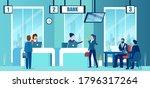 vector of a modern bank office... | Shutterstock .eps vector #1796317264