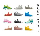 shoes sport | Shutterstock .eps vector #179635541